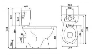 Les principales dimensions d'un wc à poser